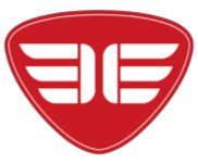 red logo with wings concept