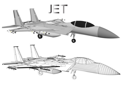 Jet plane vector for soldiers