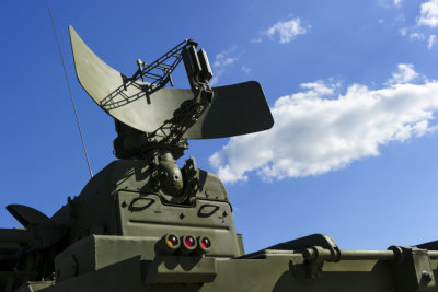 Air defense radar of military mobile mighty rocket launcher